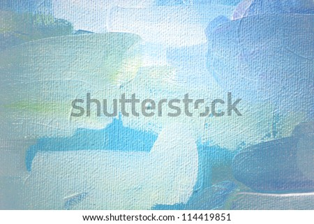 abstract painting on a canvas oil,  illustration, background - stock photo