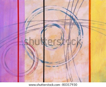 Abstract painting - Ringer #2 - stock photo