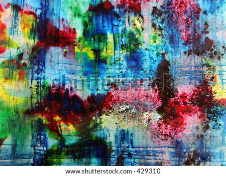 Abstract painting - watercolor by the photographer -