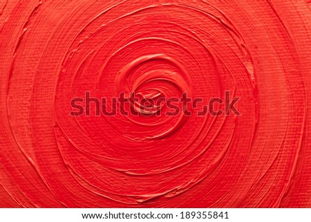 Abstract paintings of red colors embossed decoration - stock photo