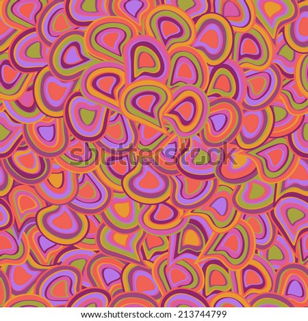Abstract Pale Seamless Pattern.  Yellow Purple Background - stock photo
