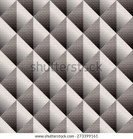 Abstract paneling pattern - checkered decorative style - Interior wall panel pattern - seamless background - cloth paneling