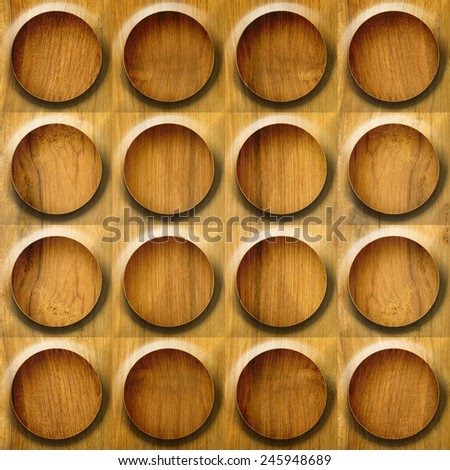 Abstract paneling pattern - seamless background - button pattern - wood texture - stock photo