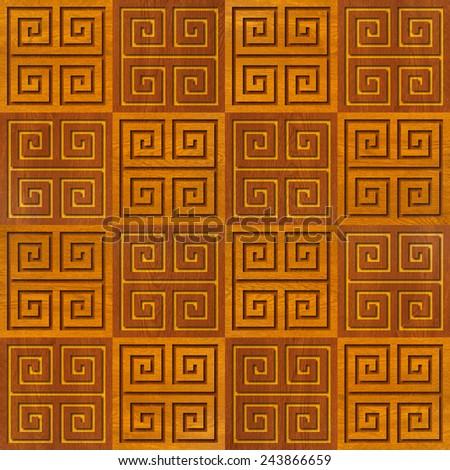 Abstract paneling pattern - seamless background - cassette floor - stock photo