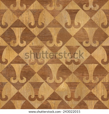 Abstract paneling pattern - seamless background - hipster symbol - stock photo