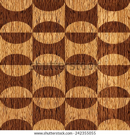 Abstract paneling pattern - seamless background - wooden texture - stock photo
