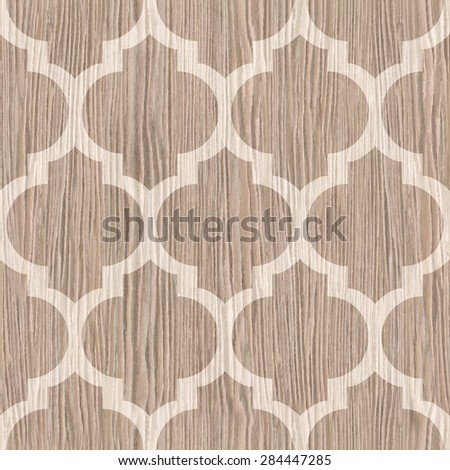 Abstract paneling pattern - seamless pattern - Blasted Oak Groove wood texture - stock photo