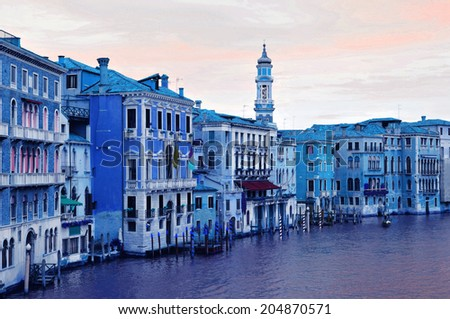 Abstract panorama of the Grand Canal in Venice, Italy