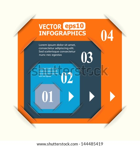Abstract paper infographics. Raster copy of vector illustration