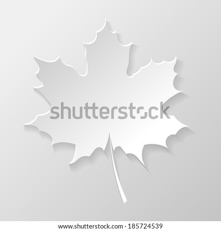 Abstract paper maple leaf - stock photo