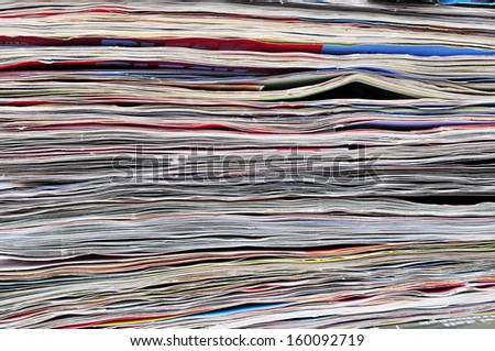 Abstract paper texture, journals, background - stock photo