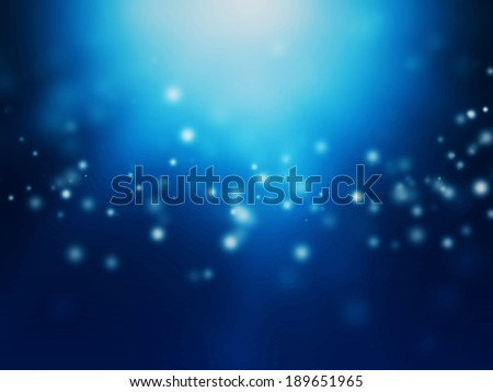 Abstract Particle Background with Blue Light - stock photo