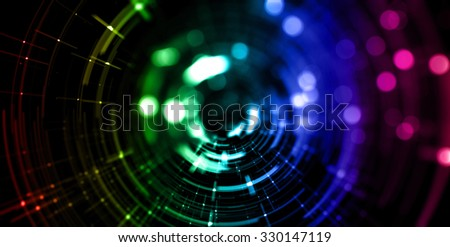 Abstract particle with bokeh background.