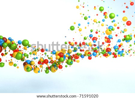 Abstract Particles Background - stock photo
