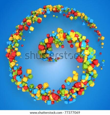 Abstract Particles Swirl Background - stock photo
