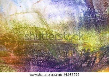 abstract pastel on paper space, art, impressionism - stock photo