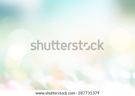 Abstract pastel style, blurred grass on ground in the nature, Summer and spring light sunshine concept, Soft focus and blur - stock photo