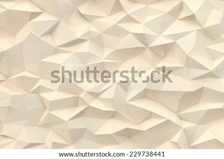 Abstract pastel triangles 3d background - stock photo