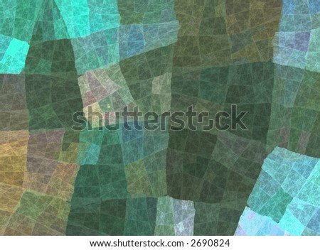 abstract patchwork background in fresh spring colours - stock photo