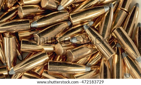 Abstract patter on handgun bullets