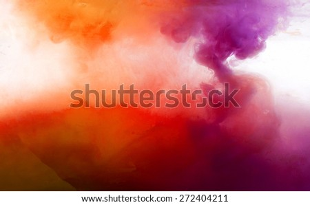 Abstract pattern background with abstract colours ink in water - stock photo