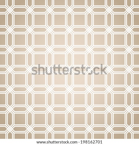 Abstract pattern in Arabian style. Seamless background. Brown  and white texture. - stock photo