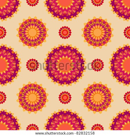 Abstract pattern in yellow and orange colors. - stock photo