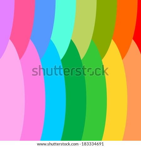 Abstract Pattern - Modern pattern with rainbow colors and geometric shapes.