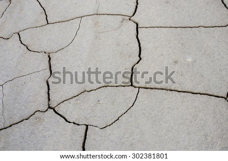 Abstract pattern of cracks in the earth (natural background) - stock photo