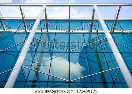 Abstract Pattern of Glass, London, England, UK  - stock photo