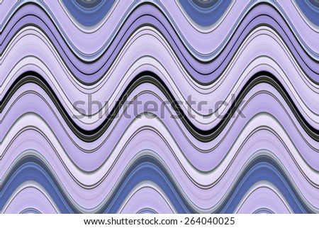 Abstract pattern of roller-coaster sine waves to illustrate themes of repetition and fluidity  - stock photo