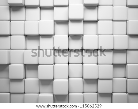 Abstract pattern of  square white pieces illustration