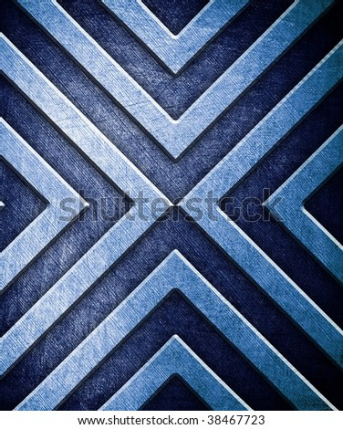 abstract pattern on metal background - stock photo