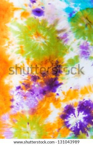abstract pattern on silk nodosa batik - stock photo