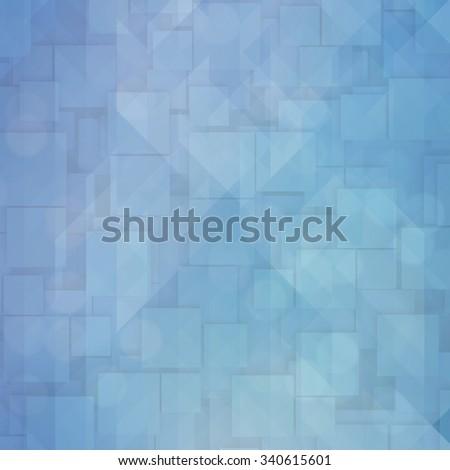 Abstract Pattern - Triangle and Square pattern in blue and white colors