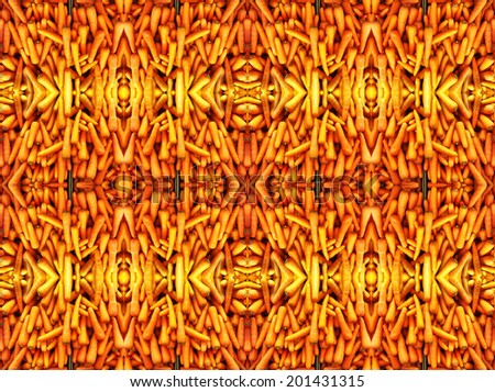 Abstract pattern with carrots.  - stock photo