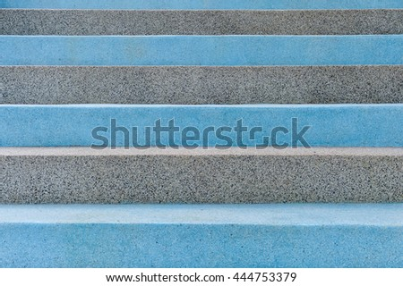 Abstract perspective concrete stairs to building - stairway composition. stone steps. - stock photo