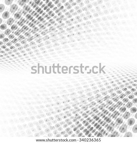Abstract perspective grey & white halftone background - stock photo