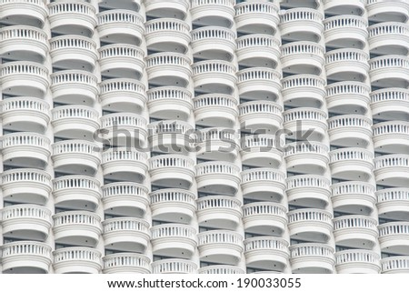 Abstract photo  balconies of the state tower, Bangkok, Thailand