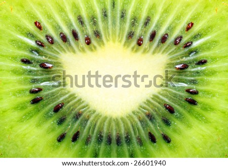 Abstract photo of a kiwi
