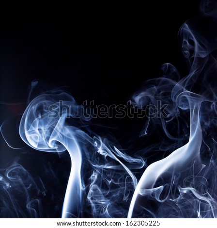 abstract photo of blue Smoke  - stock photo