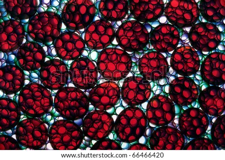 Abstract photo of cell fission under a microscope - stock photo