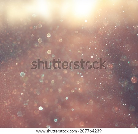 abstract photo of light burst and glitter bokeh lights. image is blurred and filtered .  - stock photo