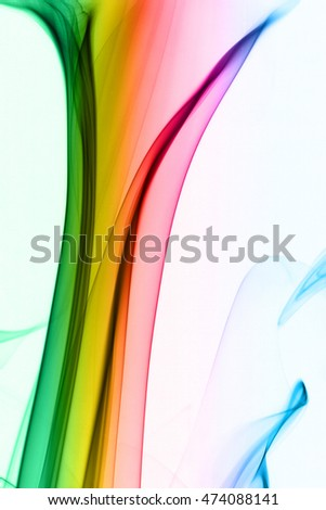 Abstract photo of the mysterious smoke - white background
