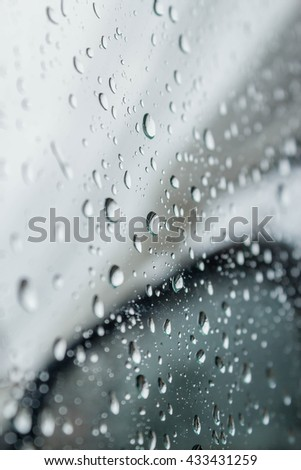 abstract photo of water drop on car mirror : for background use