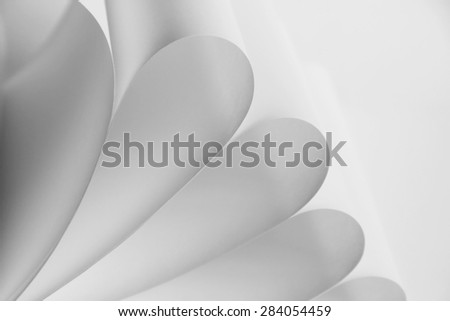 Abstract photo of white paper - stock photo