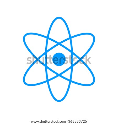 abstract physics science model icon, illustration. Flat design style. - stock photo