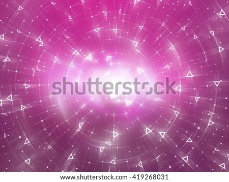 Abstract pink background. Explosion star.