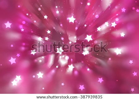 abstract pink background. fractal explosion star with gloss and lines