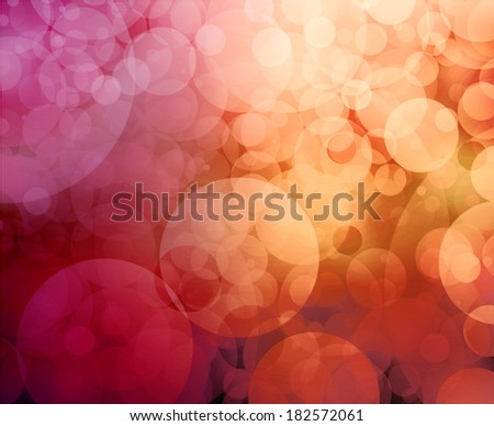 abstract pink background gold glitter lights, round shapes geometric circle background, sparkling fantasy dream background, bright celebration bubble Christmas background, blurred bokeh lights - stock photo